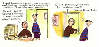 Bacon - Clare In The Community by Harry Venning